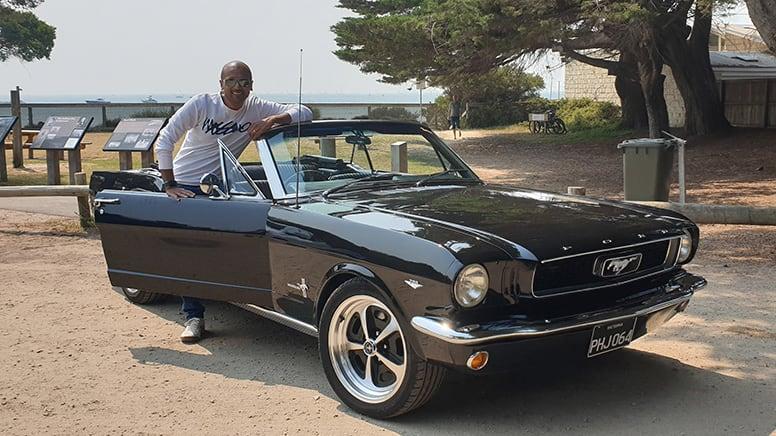 1966 Ford Mustang Convertible Car Hire, 6-hours, Midweek– Moorabbin