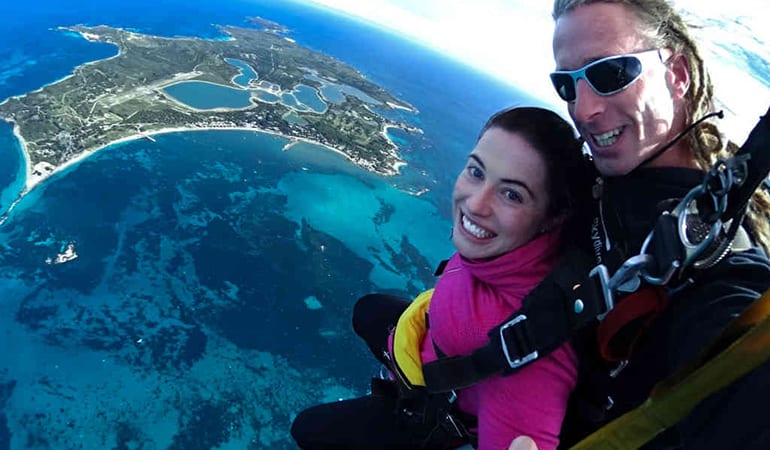 14,000ft Tandem Skydive Over Rottnest Island from Perth