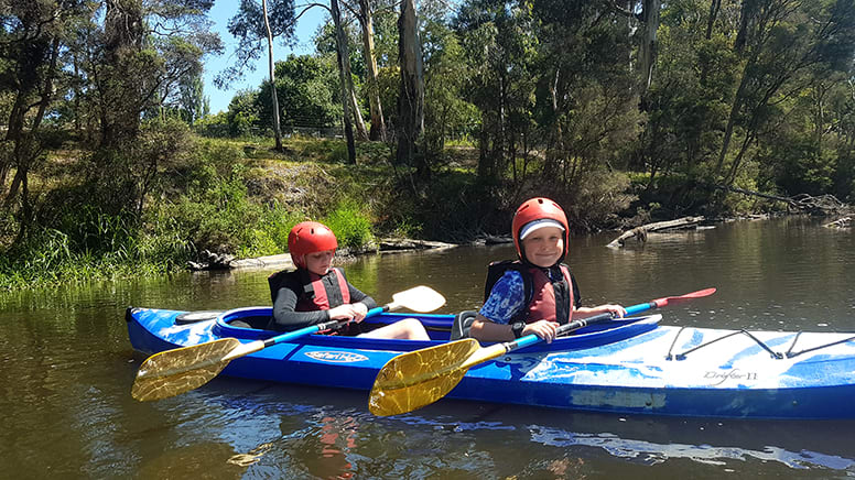 White Water Kayak and Abseiling Tour for Kids - Warrandyte, VIC