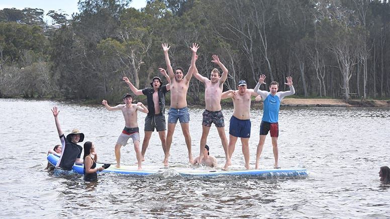 Giant Stand Up Paddle Board Hire For up to 10, 1 Hour - Avoca Beach