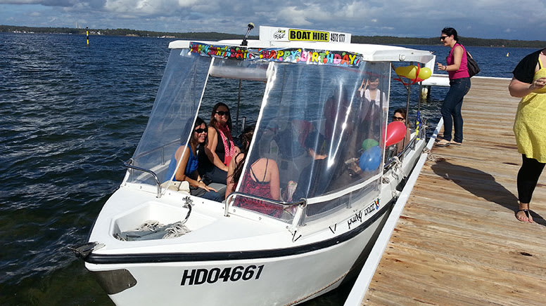 BBQ Boat Hire, 4 Hours – Central Coast – For up to 10
