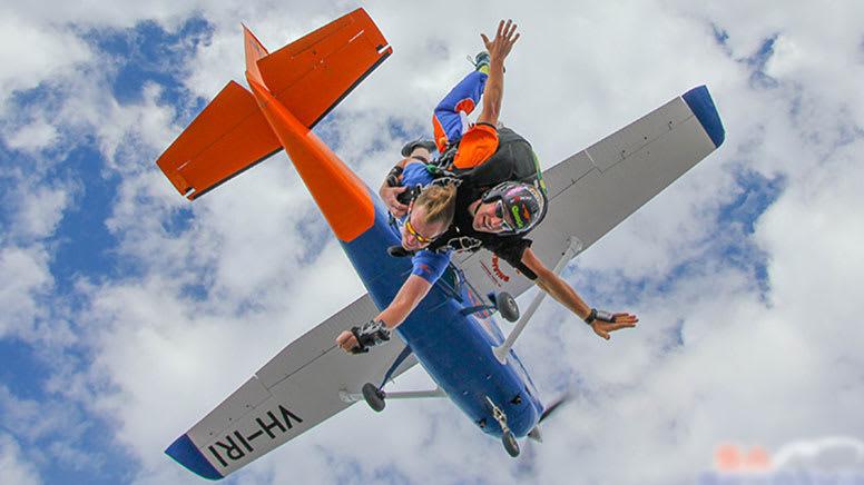Tandem Skydive, 12,000ft - Lake Alexandrina, South Australia
