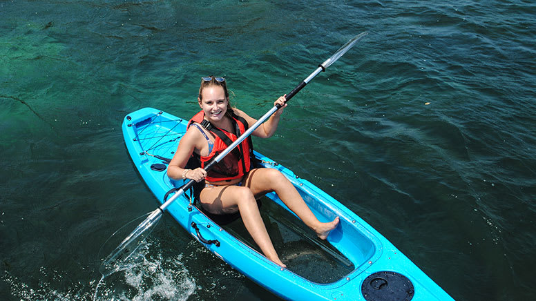 Single Clearview Kayak Hire, 4 Hours - Manly - For 2