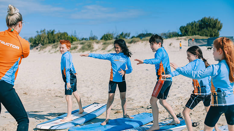Surfing Lesson for Children, 2 Hours - Gold Coast