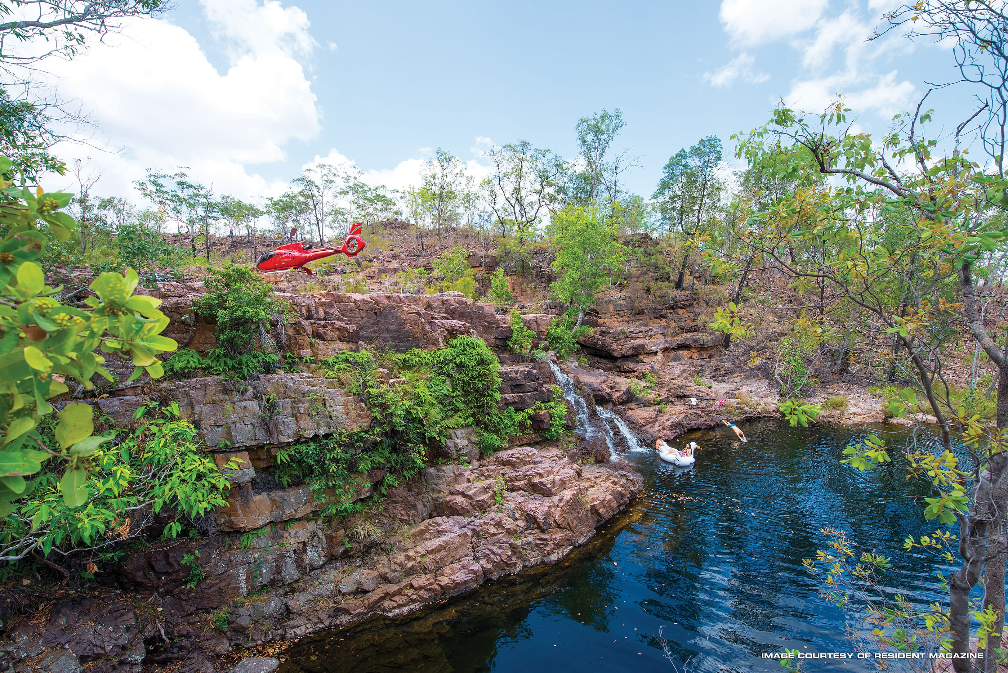 Private Helicopter Visit to Litchfield Waterfall - Darwin - For 2