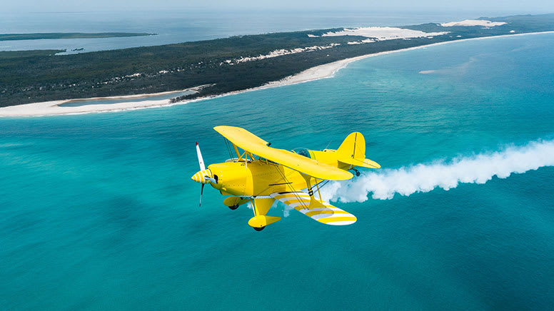 Scenic Biplane Flight with Aerobatics, 1 Hour - Moreton Island, Brisbane