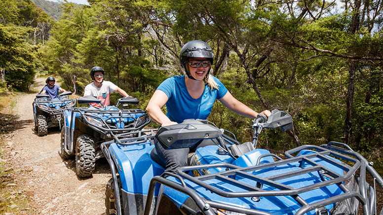 Bayview Circuit Quad Bike Tour, 2.5 Hours - Nelson, NZ - For 2