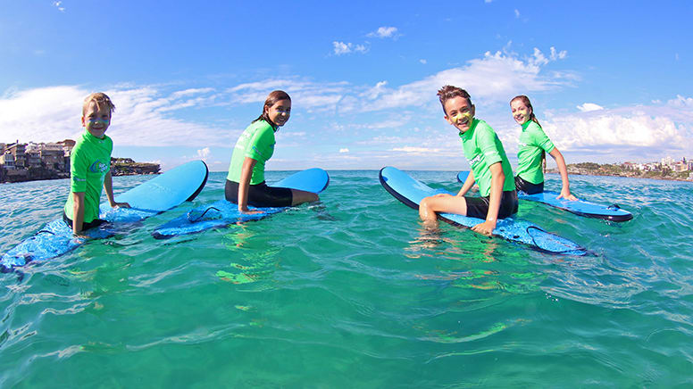 Private Family Surf Lesson For 4 - Byron Bay