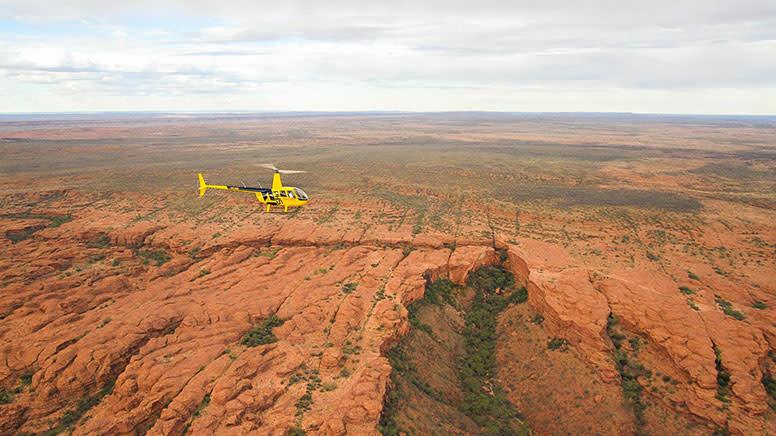 Helicopter Scenic 30-minute Flight, Kings Canyon & George Gill Range - For 2