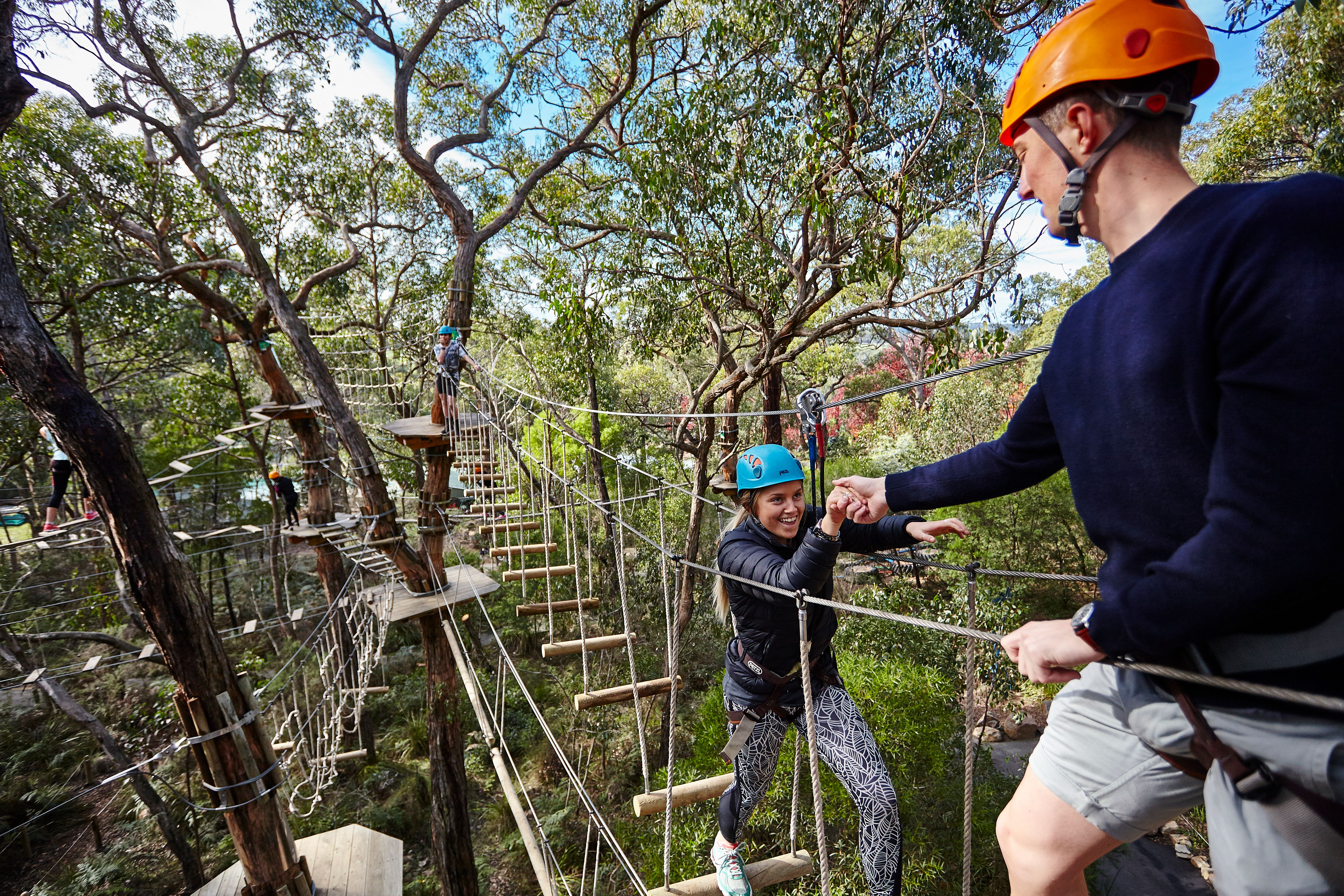 Tree Surfing & Adventure Garden Entry - Mornington Peninsula