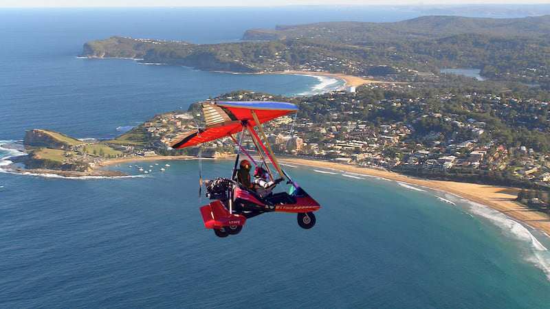 Microlight Aircraft Training Flight, 40 Minutes - Central Coast