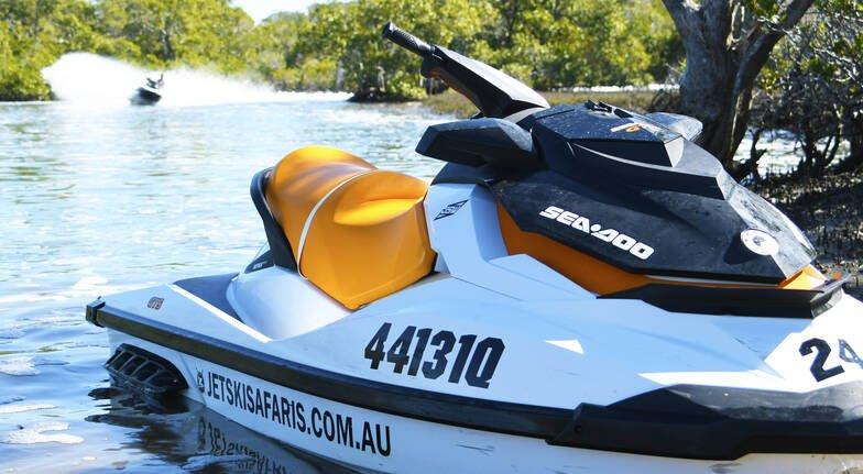 Jet Ski Safari with Island Stop, 90 Minutes - Gold Coast