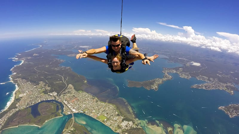 Tandem Skydive up to 15,000ft, Weekend - Newcastle Beach