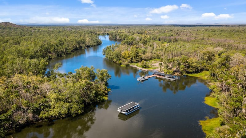 Top End Helicopter, Cruise & Croc Swim Day Tour - Departs Darwin