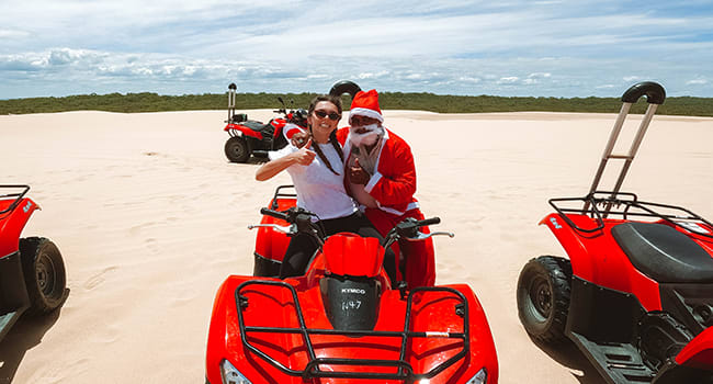 1. Santa's in shorts