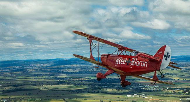Flying lesson with aerobatics Sydney