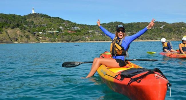 Dolphin kayak tour in Byron Bay