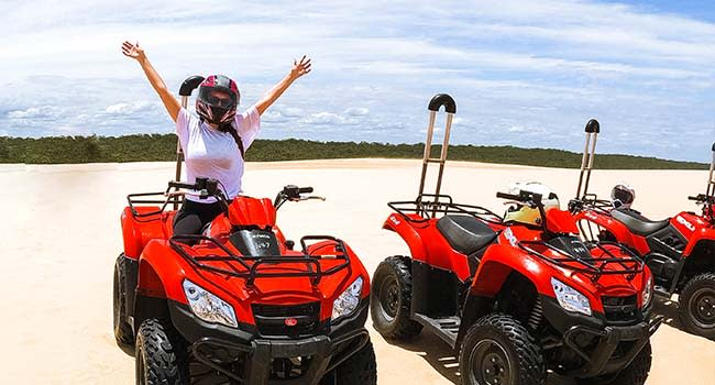 Quad biking tour in Port Stephens