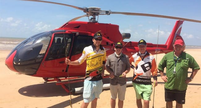 Private full day heli fishing trip for 2