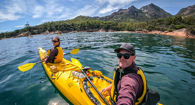 Guided Kayak in Freycinet National Park