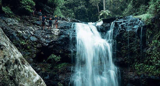 Canyoning in the rainforest