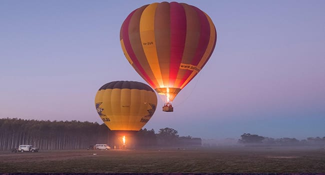 Hot Air Balloon Flight at Sunrise with Breakfast, King Valley