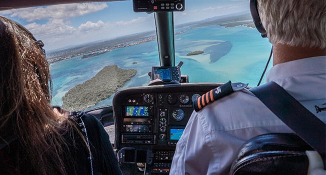Scenic helicopter flight of the Gold Coast