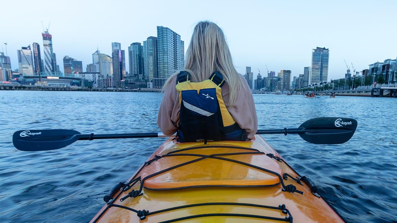 The Adventure Series: moonlight kayaking in Melbourne