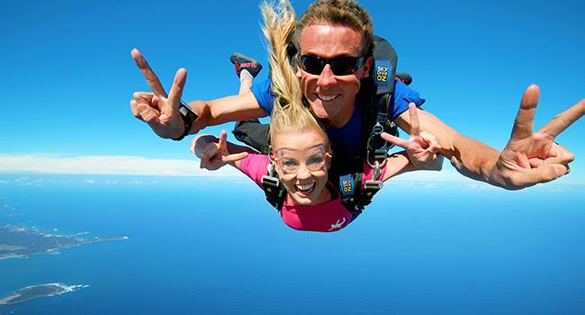 Skydiving over Batemans Bay