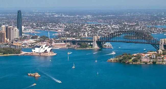 Seaplane tour over Sydney