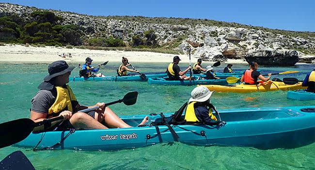 Sea kayak tour, Rottnest Island