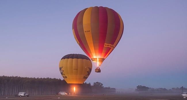 Hot air balloon, King Valley
