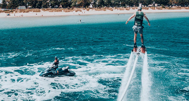 Jet pack and flyboards