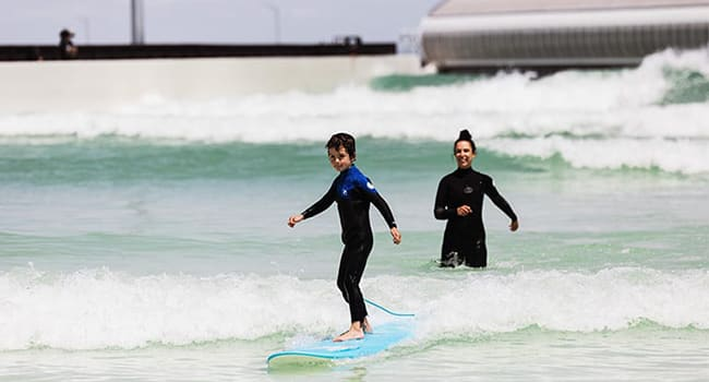 Surfing and stand up paddleboarding