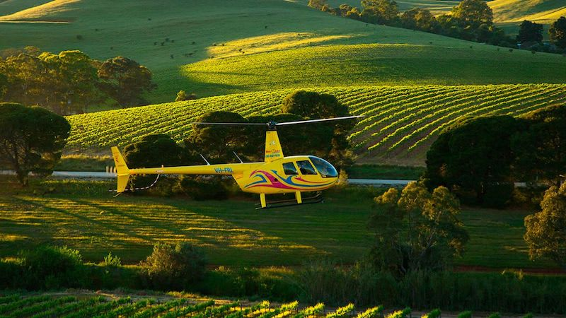Private Scenic Helicopter Flight, 10 Minutes - Barossa Valley - For 2