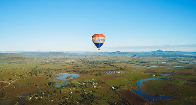 Hot Air Balloon over the Gold Coast Hinterlands