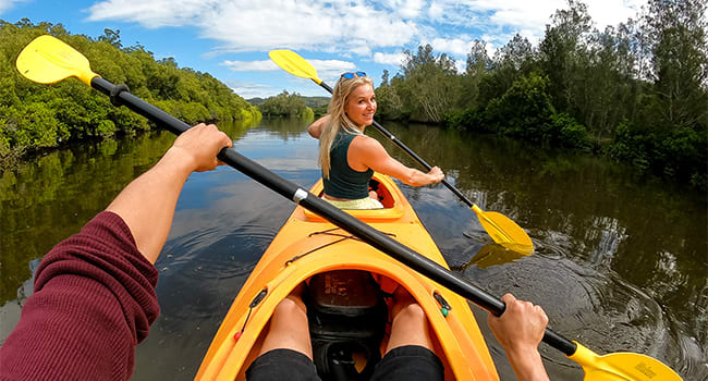 Kayaking or Stand Up Paddle Boarding