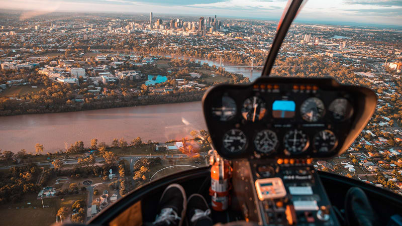 Private Helicopter Flight, 15-20 Minutes - Brisbane - For 2-3 People