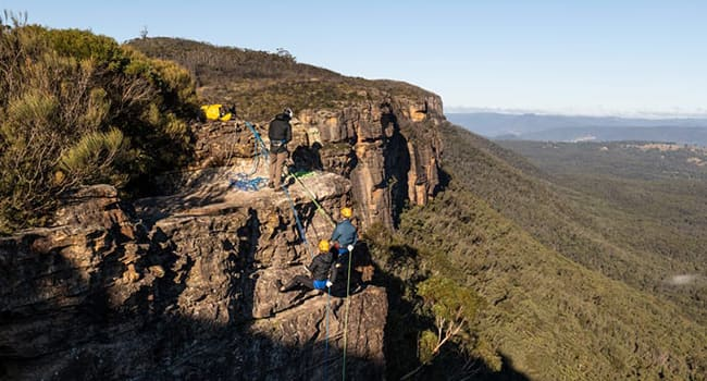 Abseiling, Blue Mountains