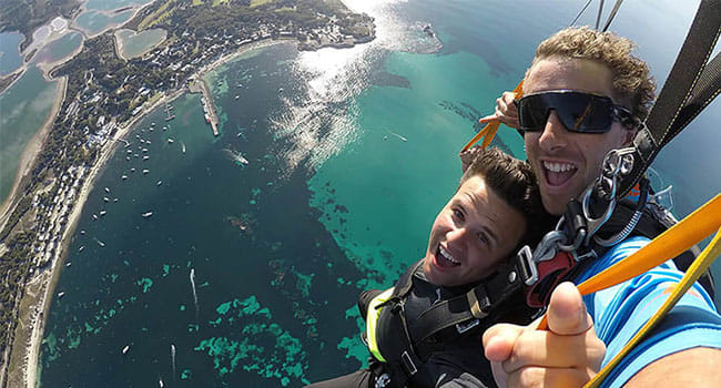 Skydiving, Rottnest Island