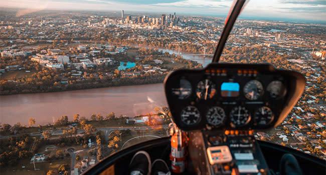 Helicopter ride, Brisbane CBD