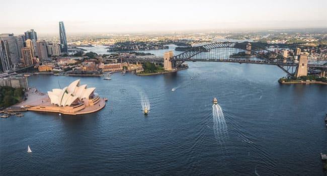 Scenic flight, Sydney Harbour