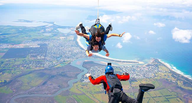 Skydiving, the Great Ocean Road