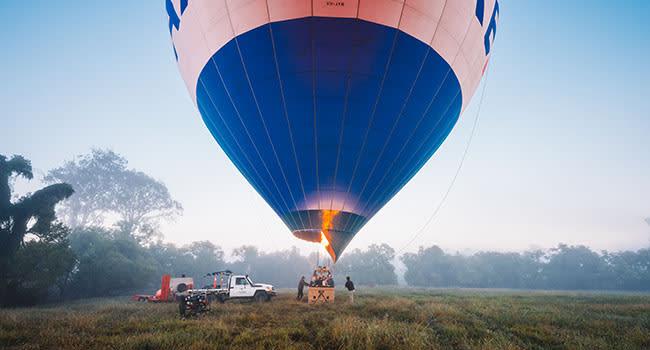 Hot air ballooning, the Gold Coast