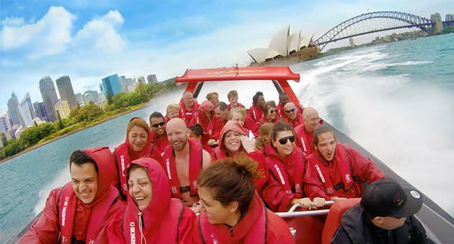 Jet boat tour, Circular Quay