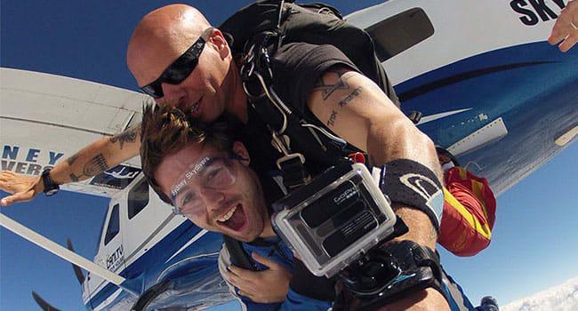 Skydiving, Sydney