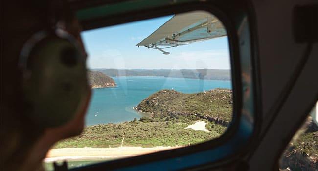 Scenic seaplane flight, Sydney