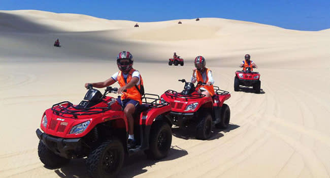 Quad biking sand dunes adventure, Port Stephens
