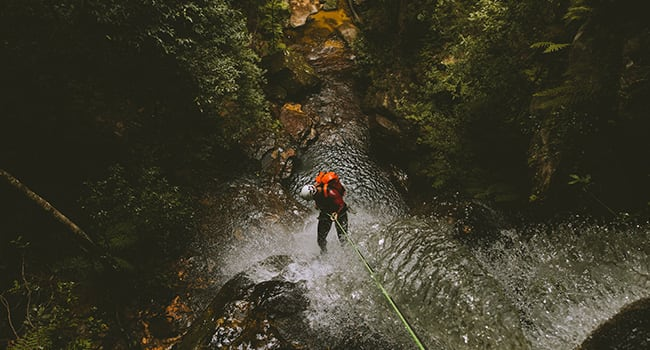 Canyoning, the Blue Mountains