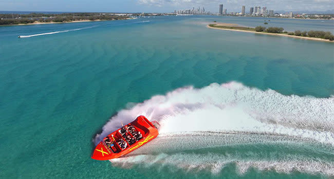 Jet boat ride, the Gold Coast